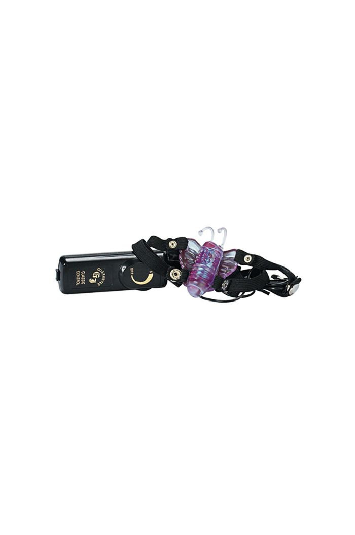 Butterfly Stimulator Strap-on Vibrator Black