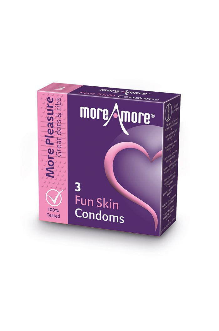 MoreAmore - Condom Fun Skin 3 pcs