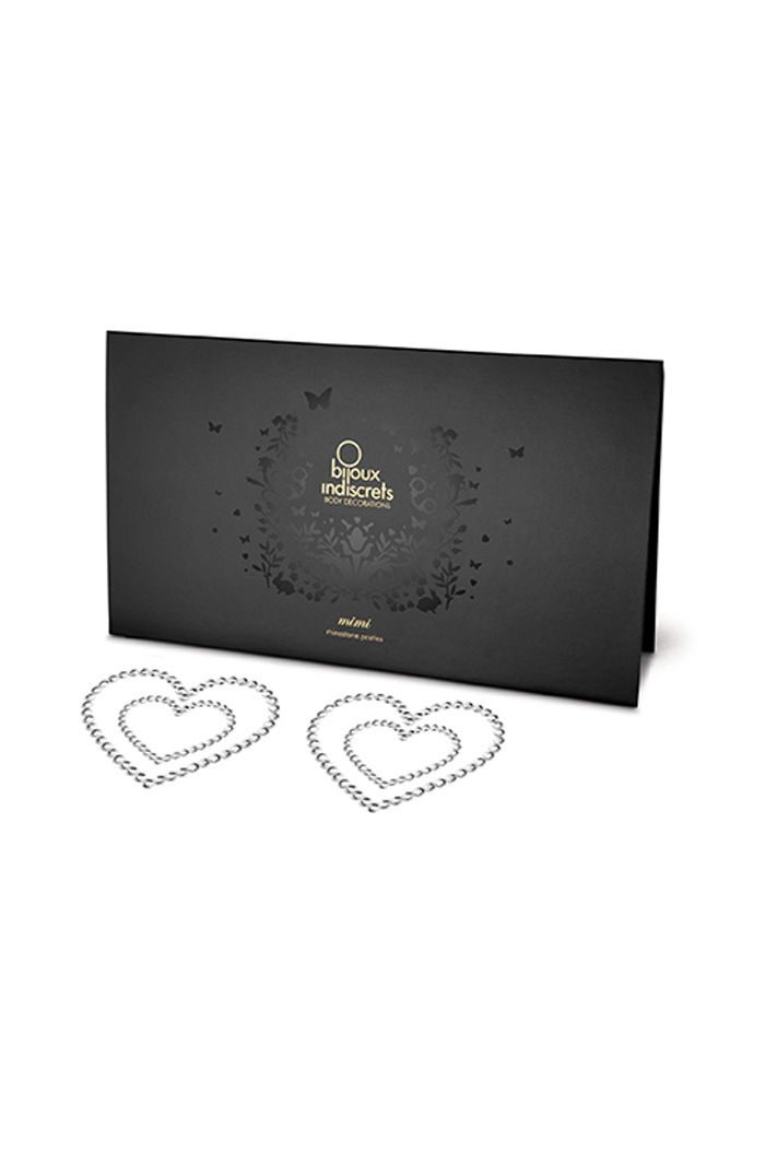Bijoux Indiscrets - Mimi Nipple Cover Heart Silver