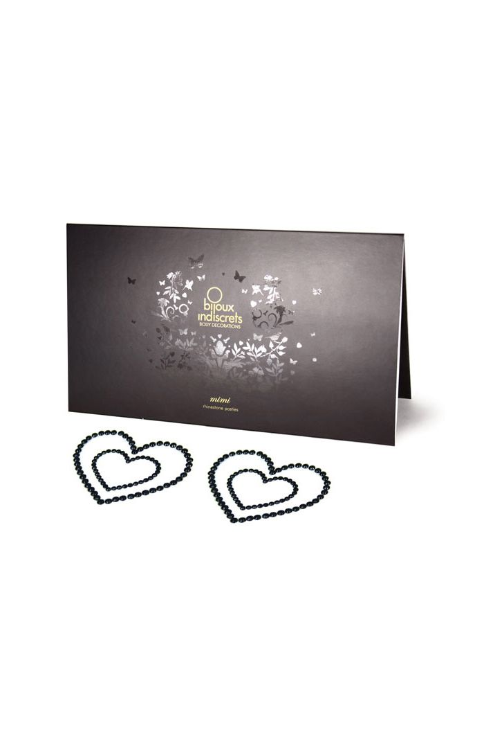 Bijoux Indiscrets - Mimi Nipple Cover Heart Black