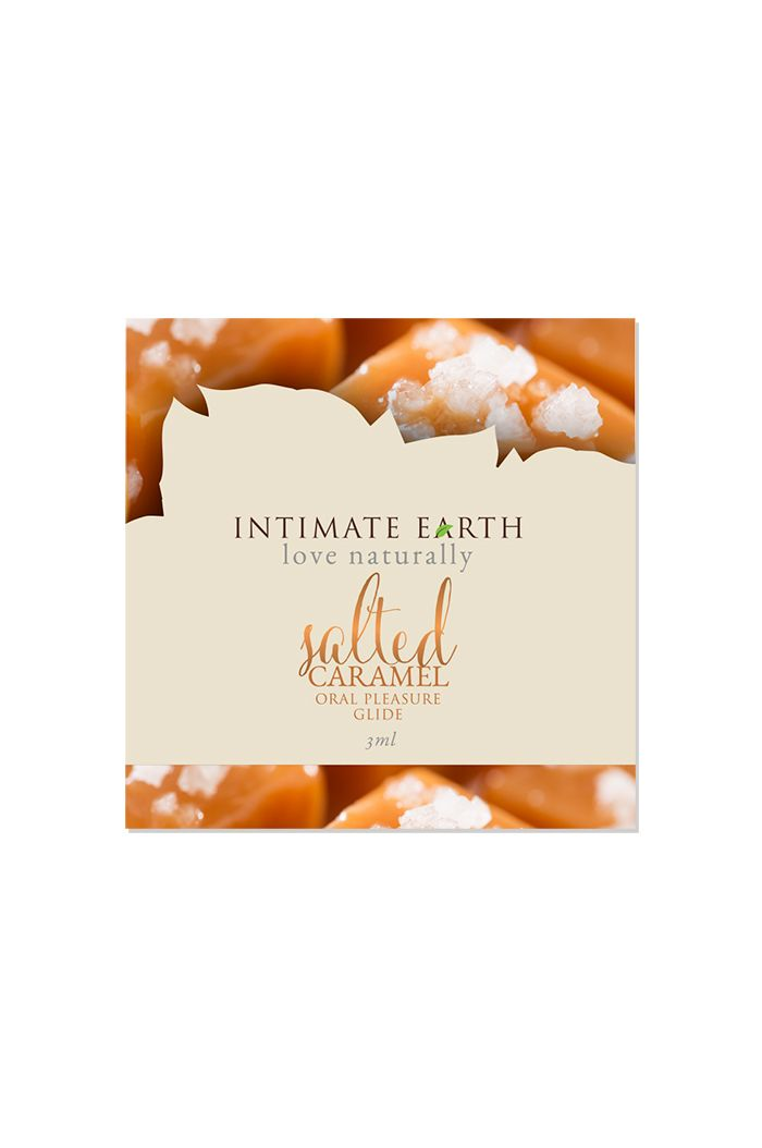 Intimate Earth - Natural Flavors Glide Salted Caramel Foil 3 ml