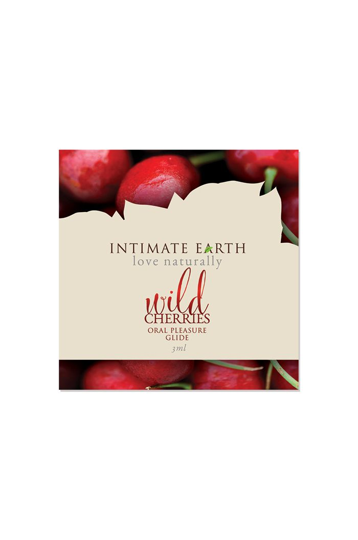 Intimate Earth - Natural Flavors Glide Wild Cherries Foil 3 ml