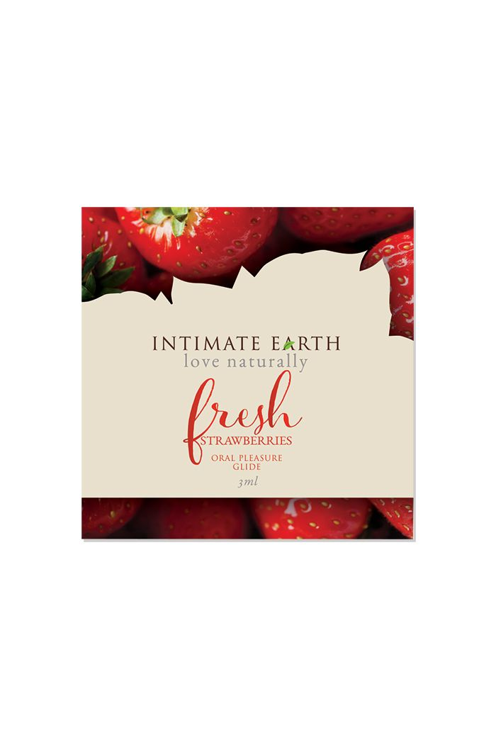Intimate Earth - Natural Flavors Glide Fresh Strawberries Foil 3 ml