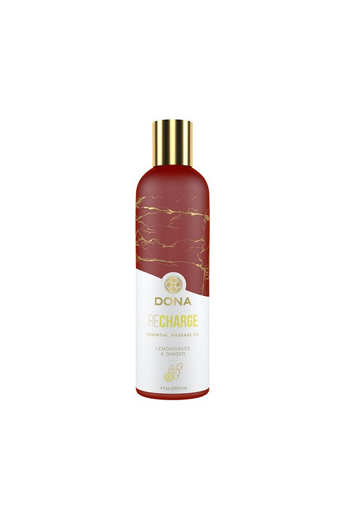 Dona - Essential Massage Oil Recharge Lemongrass & Ginger 120 ml