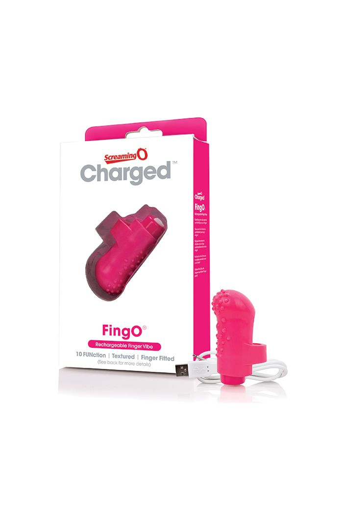 The Screaming O - Charged FingO Finger Vibe Pink