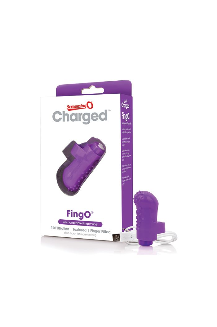 The Screaming O - Charged FingO Finger Vibe Purple