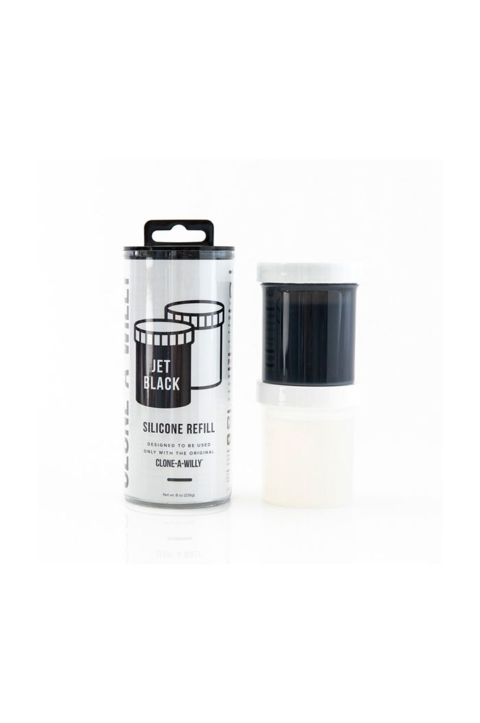 Clone-A-Willy - Refill Jet Black Silicone