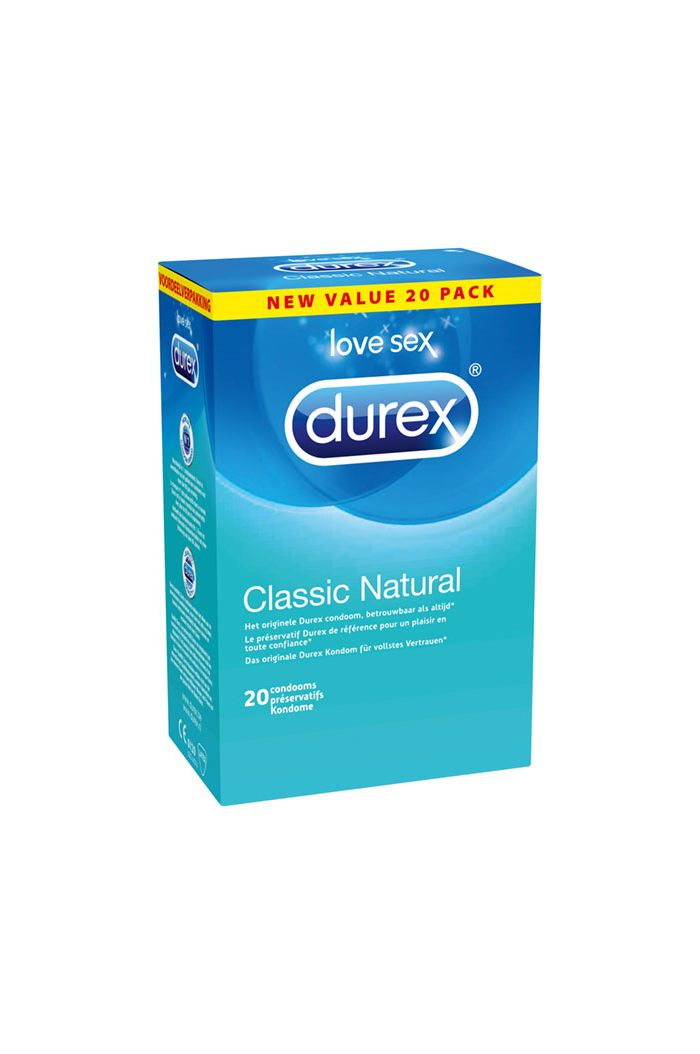 Durex - Classic Natural Condoms 20 pcs