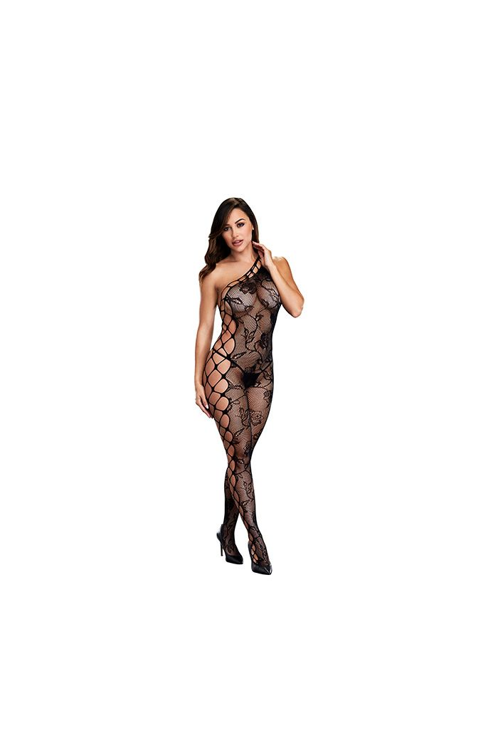 Baci - Off the Shoulder Bodystocking One Size
