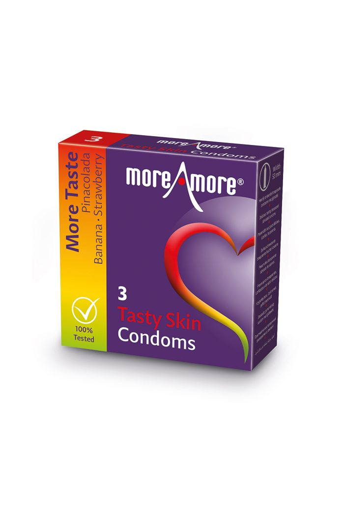 MoreAmore - Condom Tasty Skin 3 pcs