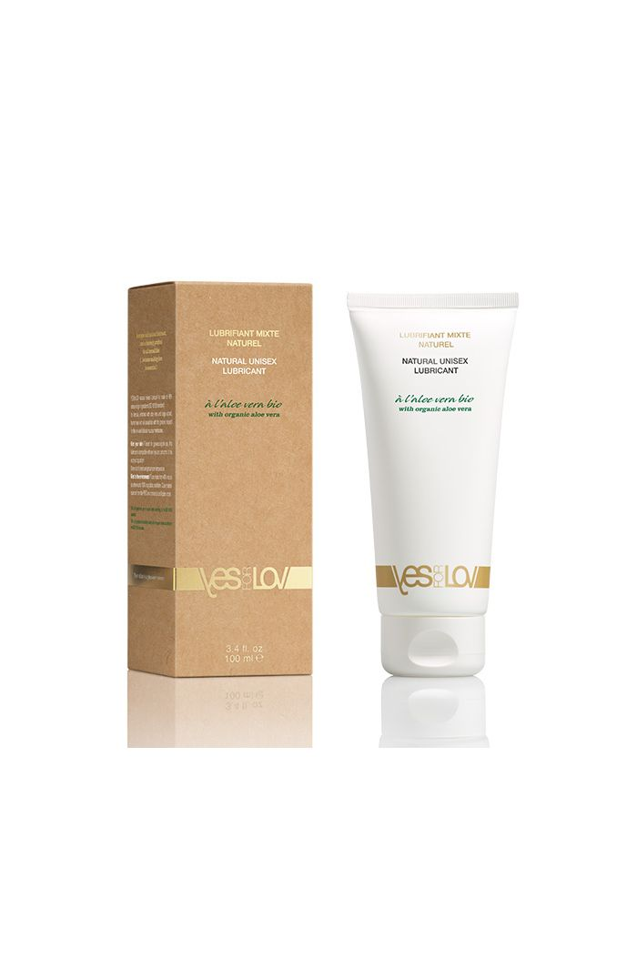 YESforLOV - Natural Unisex Lubricant with Organic Aloe Vera Tube 100 ml