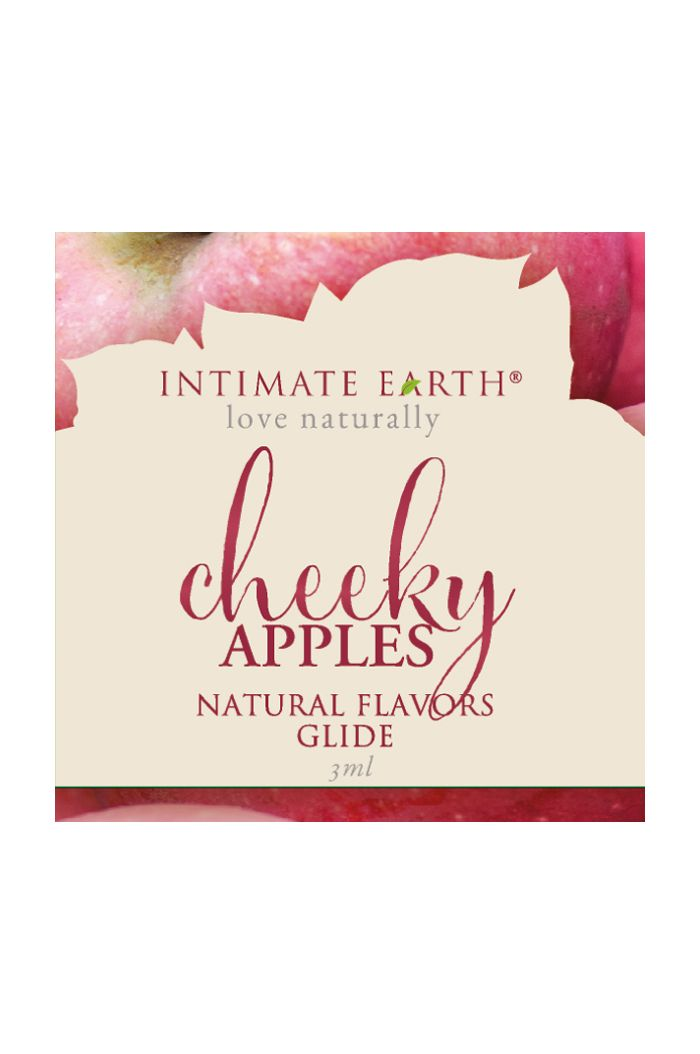 Intimate Earth - Natural Flavors Glide Cheeky Apples Foil 3 ml